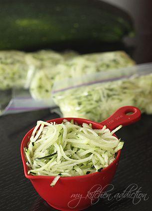 How To Freeze Shredded Zucchini (WFMW) | my kitchen addiction