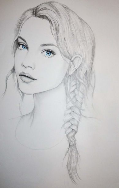 Like this, maybe try sketching from a photo of the someone else(individually) and accent with their eye colour