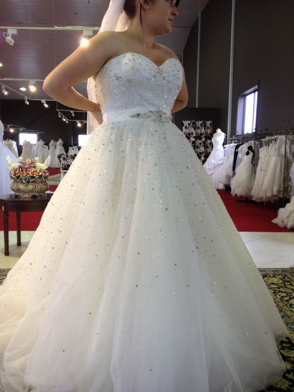 Gorgeous Strapless Ruffle Plus Size Wedding Dresses Floor-Length Empire Chapel Sequins Bridal Gowns - Products - 27DRESS.COM