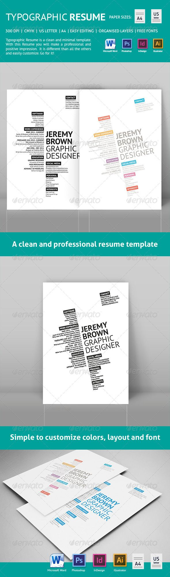 Best 25 Job Resume Template Ideas On Pinterest Resume Writing