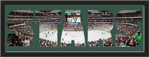 Personalize Your Name With Framed Dallas Stars American Airlines Center Stadium Large Panoramic Behind Your Name Or Purchase as -STARS- Letter Cut Out-Framed Awesome & Beautiful