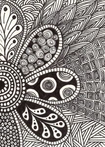 . art journaling inspiration | #doodle #zentangle