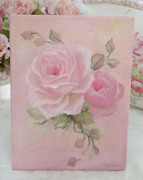 Vintage rose paintings, romantic rose paintings by artist Jo-Anne Coletti Would love a collection on a wall somewhere.