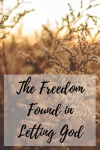 """Why is it so hard for us to give up and let God take control of our lives? If you have even an ounce of control-freak in you, you'll be able to relate. Read about my journey of struggling to """"let go and let God"""" here."""