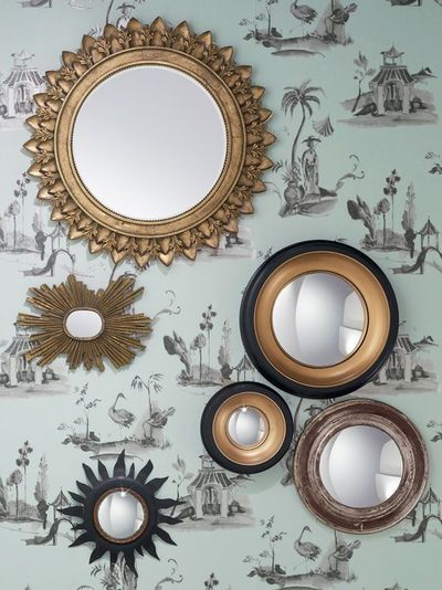 Best 25 wallpaper cabinets ideas only on pinterest open for Miroir wallpaper