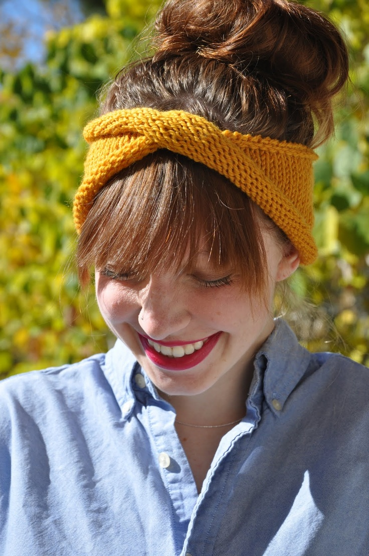 Sans Limites Crochet: The Twisty Rolly Headband - FREE KNIT PATTERN.  **This is super easy...