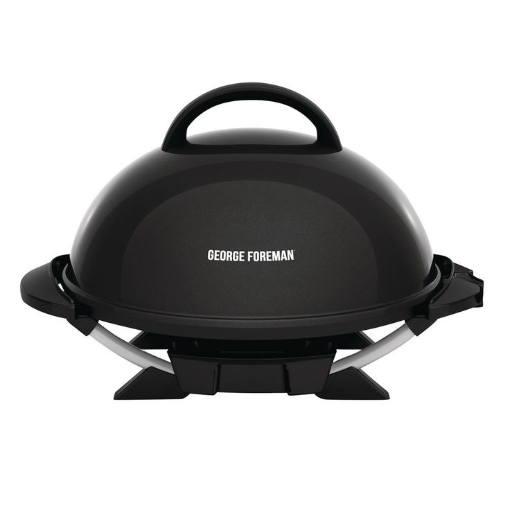 George Foreman Indoor/Outdoor Electric Grill in Black