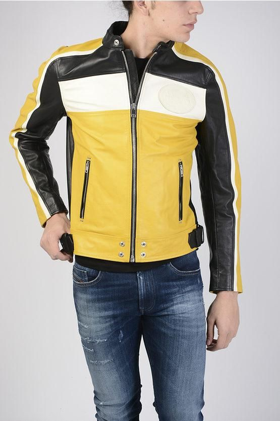 6454ceb976a Diesel Men's L Street Jacket Yellow - The Denim Lab Shop Mens leather  motorcycle jacket,