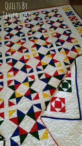 Ohio Star Quilt is finished! Handmade Quilts for sale