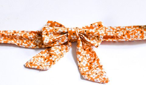Orange Daisies - Handmade Sailor Tie