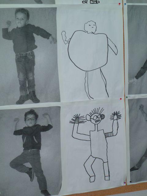 schéma corporel: dessiner les positions à partir de photos
