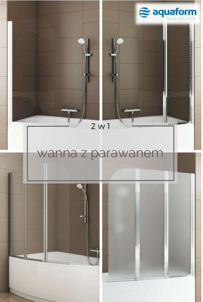 Wedle badań Homebook.pl, niemal 1/3 z nas ma w swoim domu zarówno wannę, jak i kabinę prysznicową. Tym, którzy nie dysponują wystarczającym metrażem, ale chcieliby korzystać z funkcjonalności obu sprzętów, polecamy wannę z parawanem, która oznacza koniec dylematów: kąpiel vs prysznic. #Aquaform #bathroom #łazienka #WystrójWnętrz #wnętrza #małałazienka #wanna #parawan #funkcjonalnalazienka