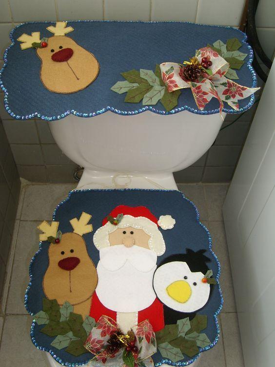 COMO HACER UN SET DE BAÑO NAVIDEÑO CLASICO muchas veces queremos realizar nuestro propio modelo de baño y no lo podemos hacer hoyaquíen...