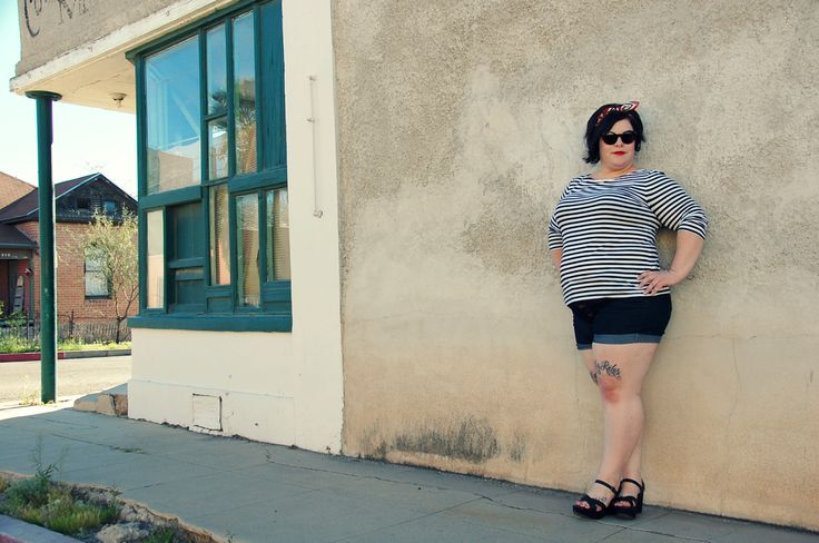 The Militant Baker: I WEAR WHAT I WANT: HORIZONTAL STRIPES AND FAT GIRL SHORTS