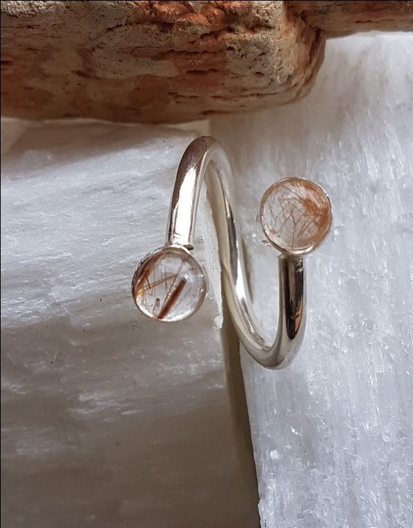 Ring | zilveren ring met rutielkwarts