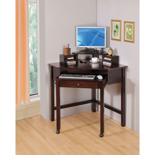 cappuccino small corner desk with one drawer and roller coaster furniture writing desks ho