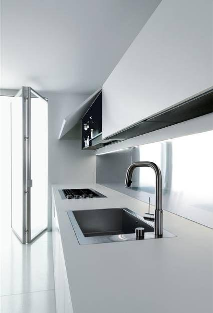 """White room."" Interior kitchen. Boffi."