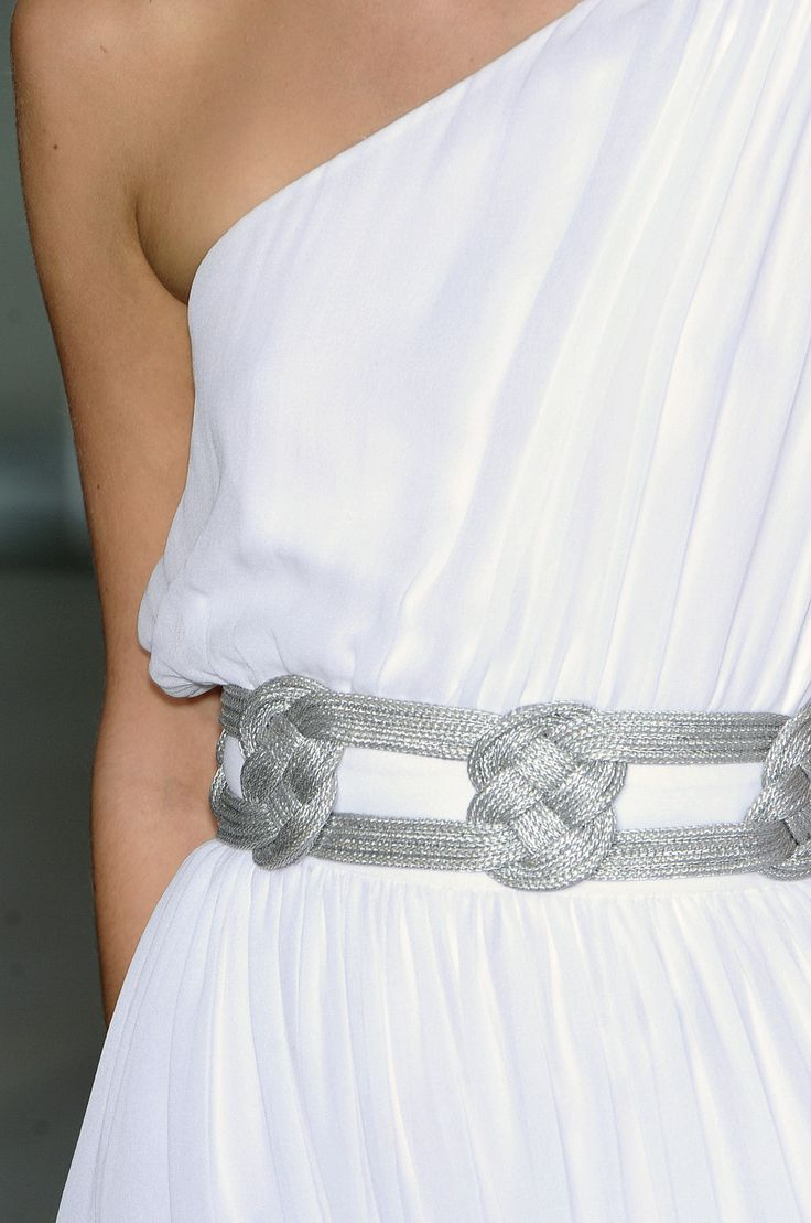 belt detail greek dress