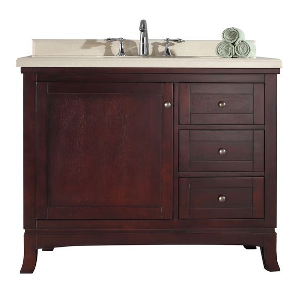 OVE Decors Valega 42-inch Tobacco Brown Single Sink Bathroom Vanity