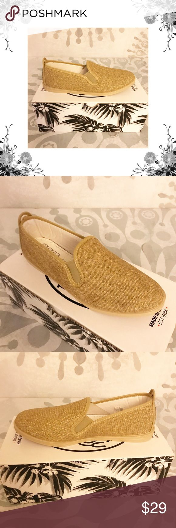 """Flossy Style 'Osuna' Gold Plimsolls 100% Canvas. Rubber sole. Handcrafted in Spain. New with box. Heel Height is approx 1/2"""". Platform Height is approx 1/4"""". Slip On. Material is Textile Upper/Man Made Outsole. Textured Metallic Fabric. Bundle for discounts! Thank you for shopping my closet! Flossy Style Shoes Flats & Loafers"""
