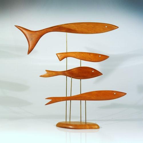 Mid Century Modern Fish Sculpture –