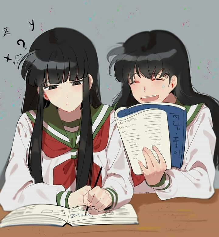 100 Ideas To Try About Inuyasha: This Reminds Me Of Kagome And Kikyo. Kikyo The Serious One