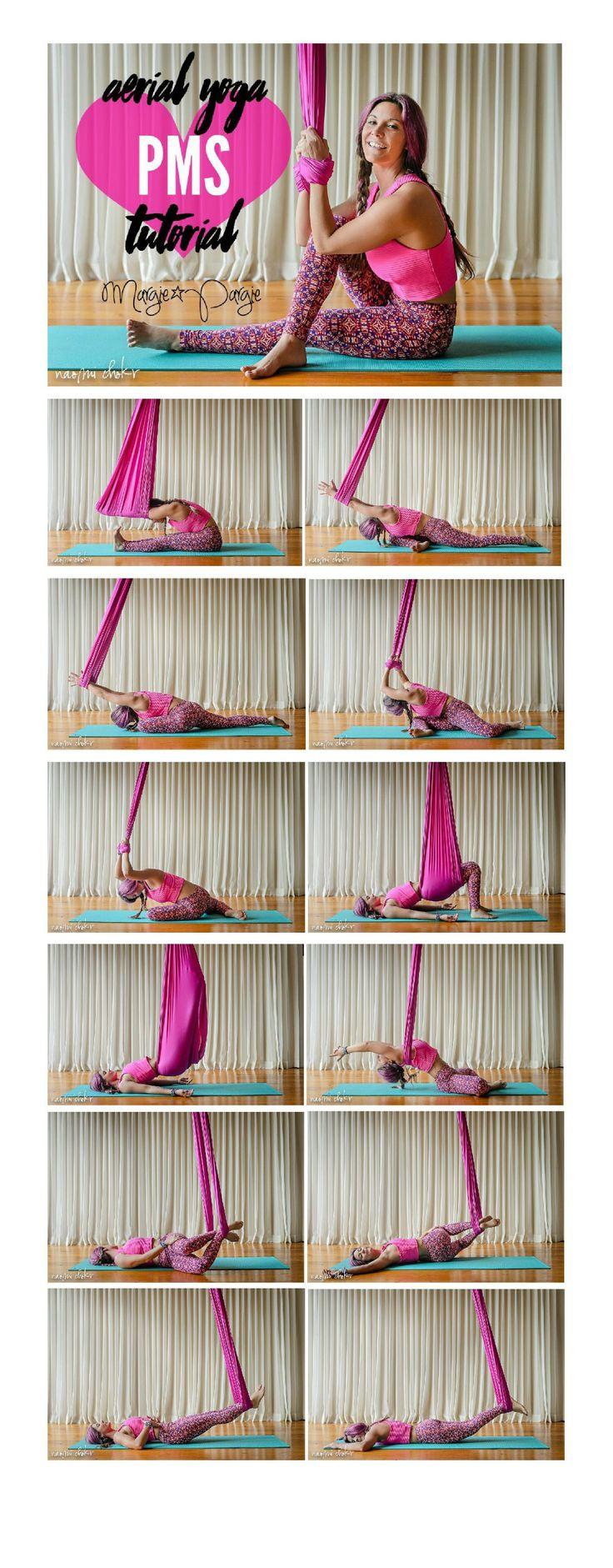 Margie Pargie Aerial Yoga PMS Tutorial