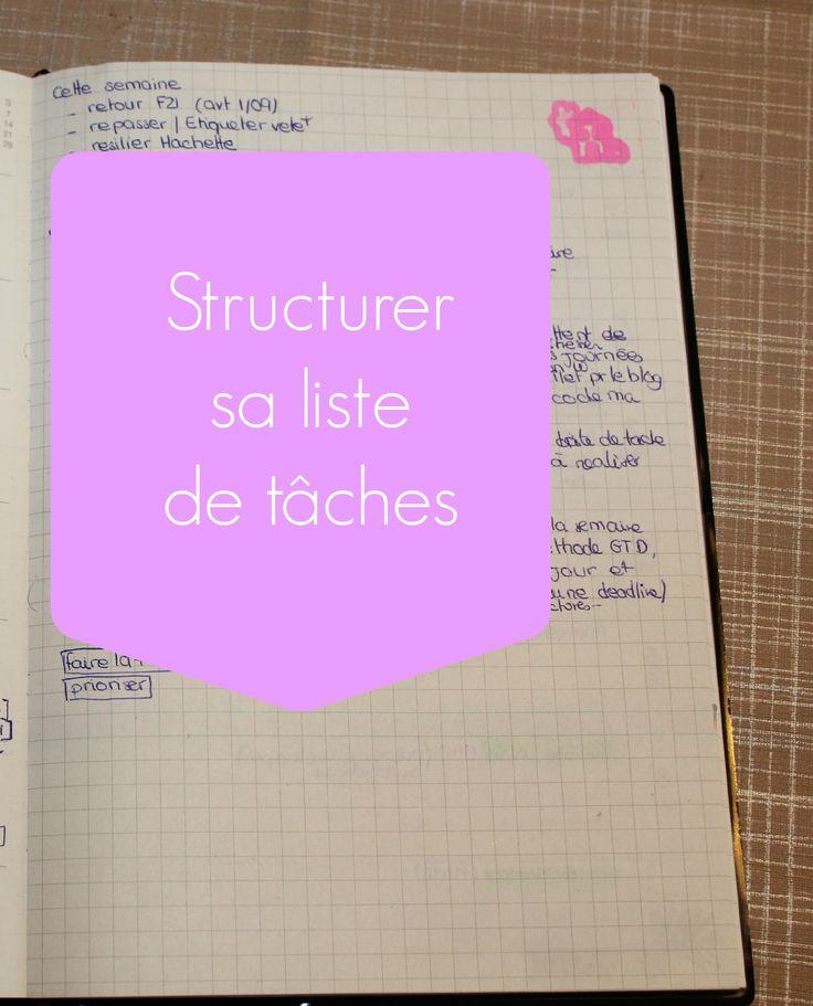 Structurer sa liste de tâches - Bee organiséee