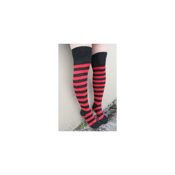 Sock Dreams Super Stripes Knee Socks ($9) ❤ liked on Polyvore featuring intimates, hosiery, socks, striped socks, knee hi socks, striped knee high socks, stripe socks and knee-high socks