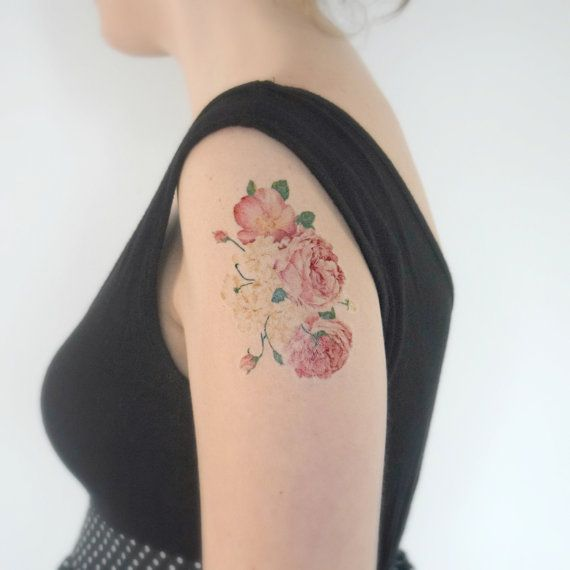 Hey, I found this really awesome Etsy listing at https://www.etsy.com/listing/207772110/large-temporary-tattoo-wildflowers-light