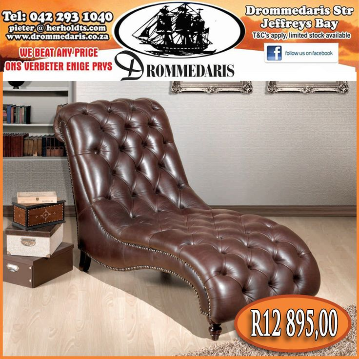 """This is a luxurious Chesterfield style lounger with excellent tailoring and expert craftsmanship. This piece of furniture will 'Wow"""" anyone who lays eyes on it! Click here to read more, http://apost.link/v9. #furniture #leather #homeimprovement"""