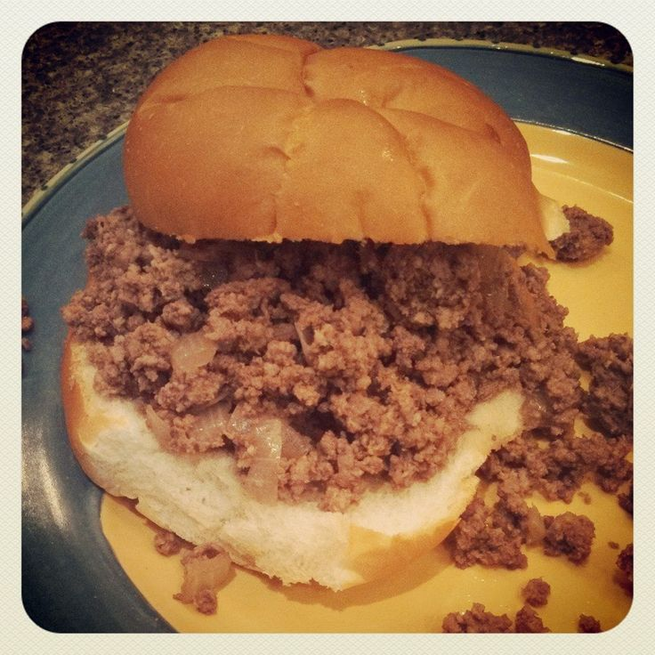 Loose Meat Sandwich.If you know what this is, you must be from the Midwest.  Here in Iowa there is nothing quite like a loose meat sandwich, or Maid-Rite, as many of us grew up calling them.  This delicious sandwich with meat messily spilling over