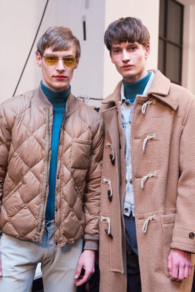 Roberto Sipos and Frederik Ruegger at Todd Snyder F/W 2017 by Hatnim Lee
