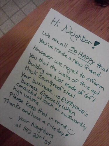 Neighbor Oops Funny Note Neighbor Quotes Funny Letters
