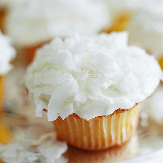 Add a citrusy spin to your vanilla cupcakes with these Tangerine Cupcakes with Coconut Frosting: http://www.bhg.com/recipes/party/seasonal/spring-baking-ideas/?socsrc=bhgpin071414tangerinecupcakeswithcoconutfrosting&page=18