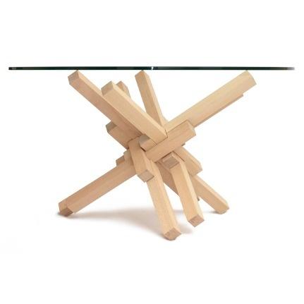 1x12 sliding interlocking burr puzzle coffee table