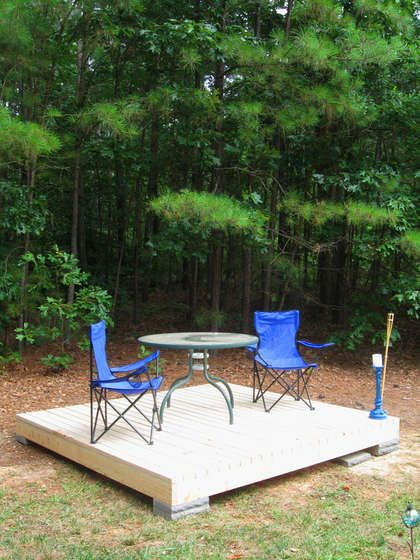 Simple floating deck floating deck small patio and side for Small floating deck