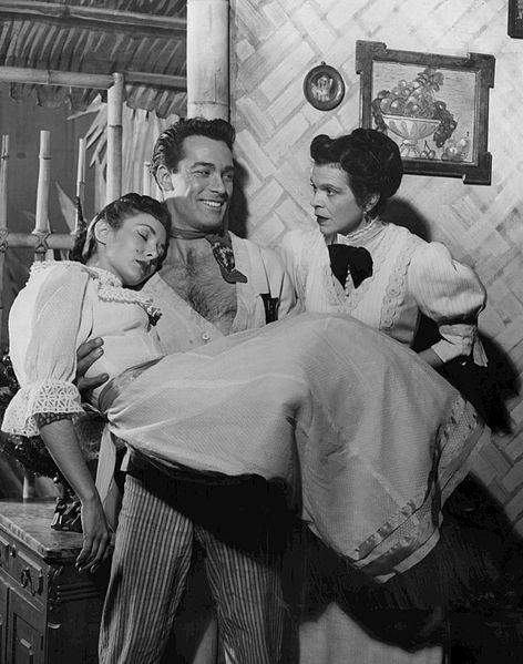 Scene from the Broadway play My Three Angels, 1954, public domain via Wikimedia Commons.