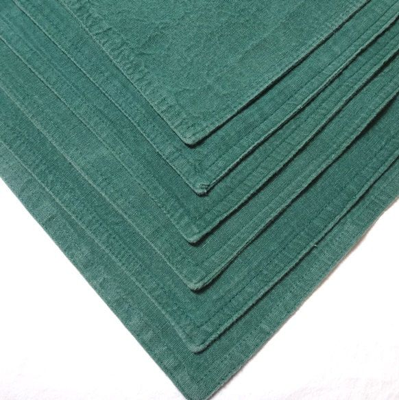 1990s Vintage Set of 6 Green Place Mats by Lintex Table, 17 x 12 Inches, All Cotton, Made in India, Vintage Table Linens, 1990s Home Decor by VictorianWardrobe on Etsy