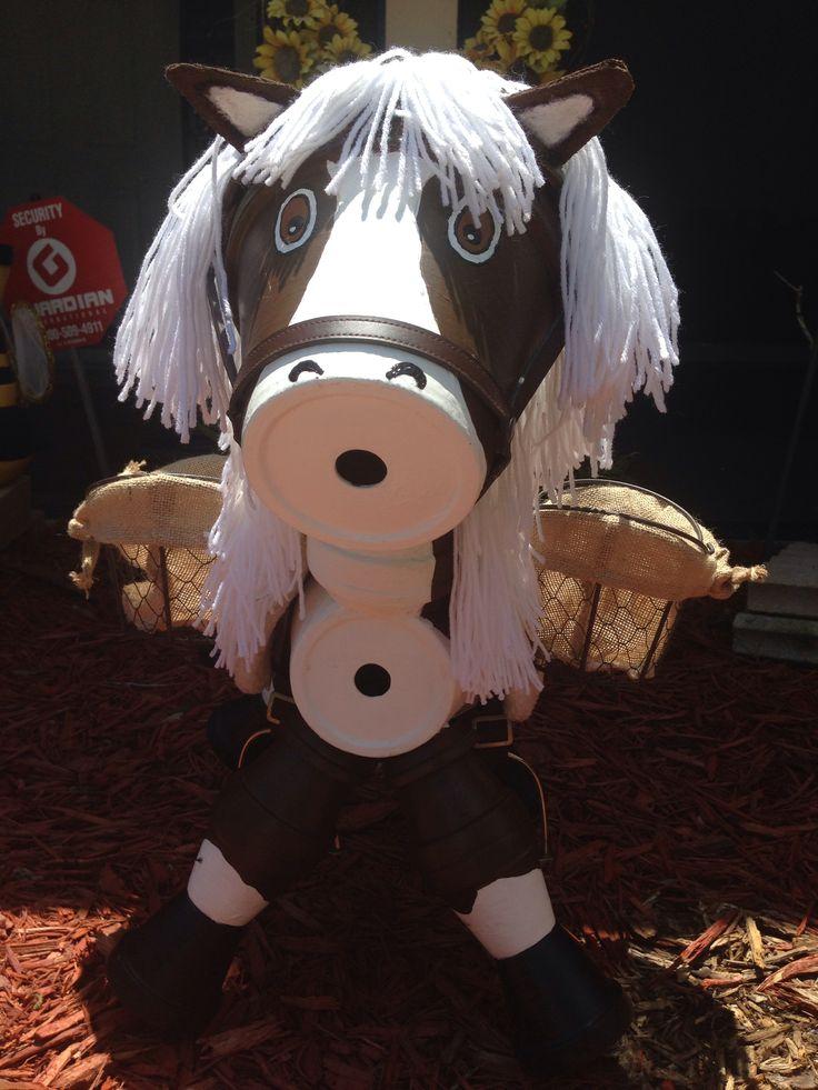 Terra cotta pot craft Horse