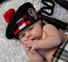 Balmoral Crochet Child's Hat for sale on Ravelry by Stewart Creations. scottish baby photo prop