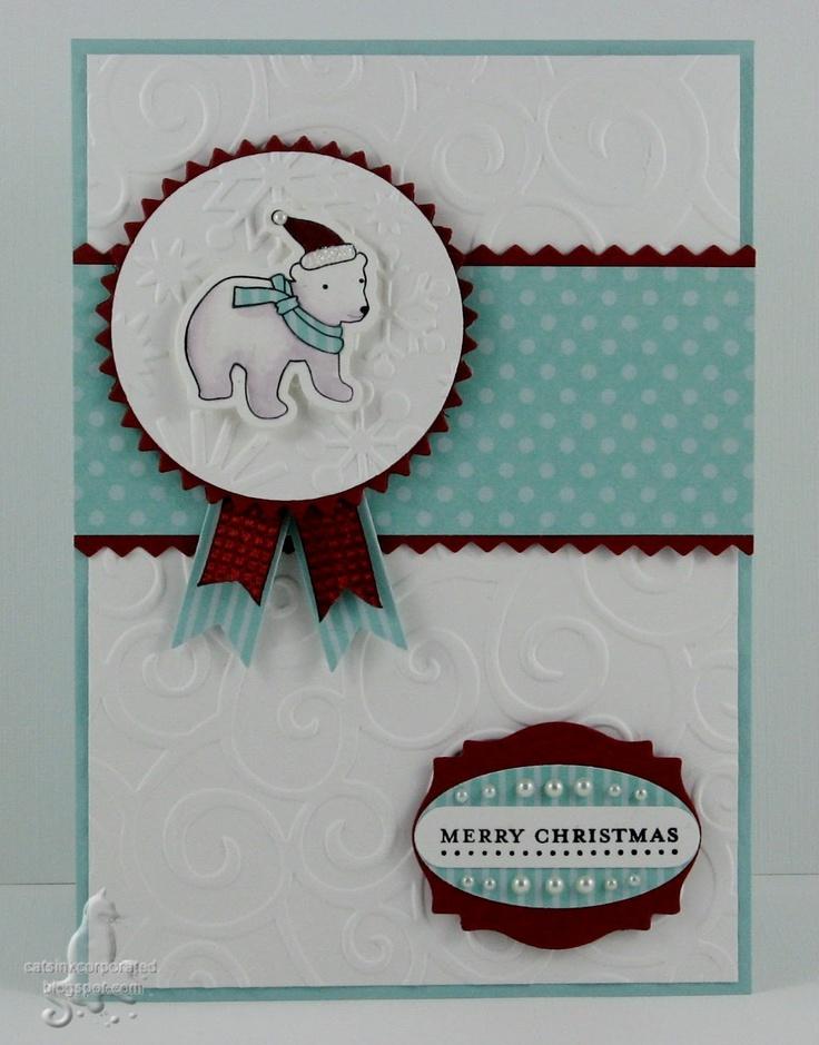 Cat's Ink.Corporated: Merry Monday Sketch #31 - Polar Bear Christmas: Mondays Sketch, Spirit Bear, Memories Box, Sketch 31, Cat Ink Corporate