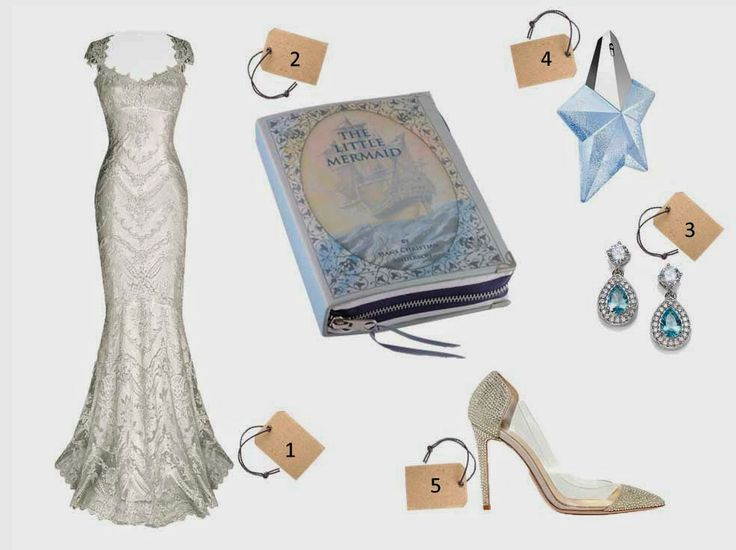 a wedding look with p.s. Besitos the Little Mermaid clutch