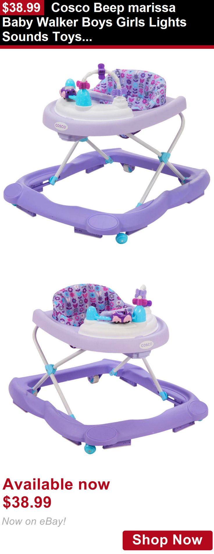 Baby walkers: Cosco Beep Marissa Baby Walker Boys Girls Lights Sounds Toys Infant Safe Train BUY IT NOW ONLY: $38.99