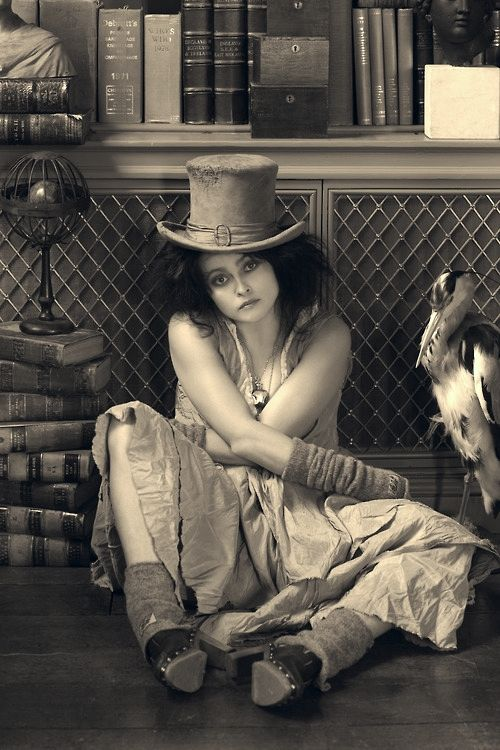 Helena Bonham Carter. I've seen her in many different kind of roles over the years, but the fact that she can live and work with Tim Burton means she's some kind of awesomely-cool chick. Rock on HBC!
