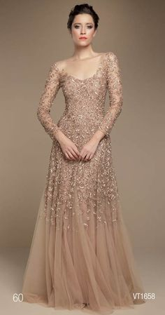 A-line Long Sleeve Mother of the Bride Dresses. Beaded Lace Evening Gowns for the Mother of the Bride at the #weddings - http://www.dariuscordell.com/product-category/mother-of-the-bride-dresses/