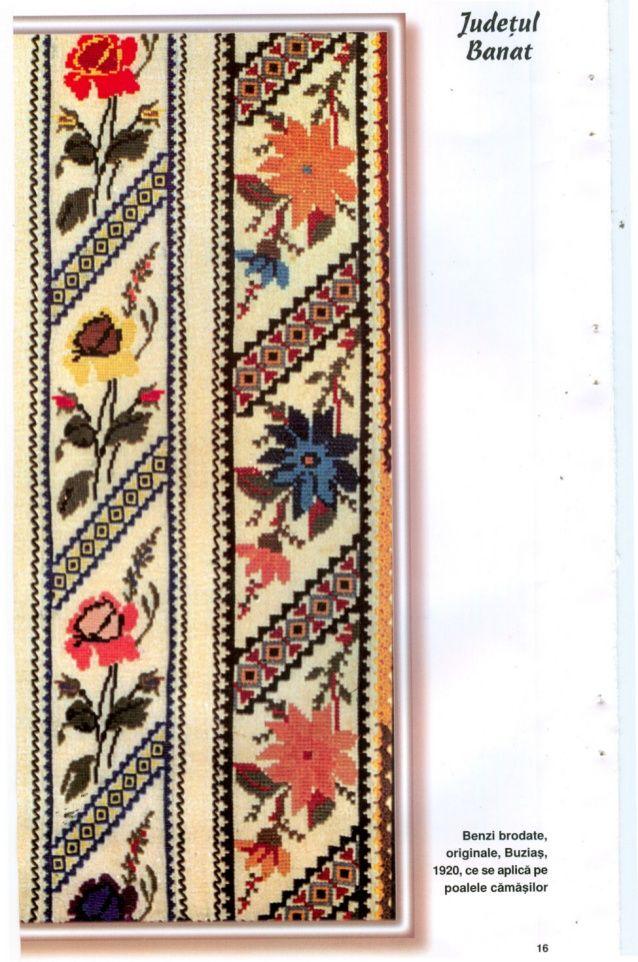 Florile raiului cusaturi populare romanesti originale din anul 1937 -