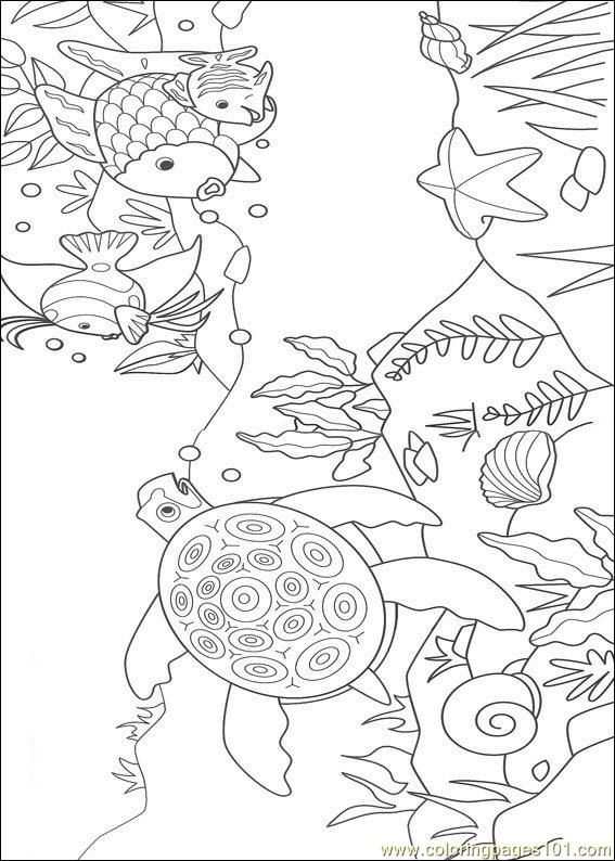 rainbow fish 10 coloring page for kids and adults from cartoons coloring pages rainbow fish coloring pages - Rainbow Fish Coloring Pages Print