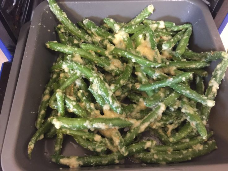 It's only been a little over a month since I got my amazing, large, wonderful air fry! And I love these Parmesan Green Beans in it if I only want to make...