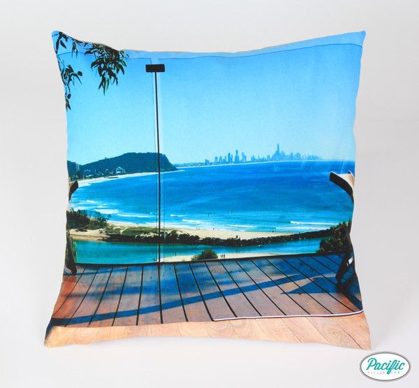 This cushion features a view to Surfers Paradise from the Southern Gold Coast printed on high quality non fade material.